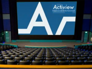 The Actiview  logo appears on screen in a small theater