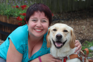 Headshot of Colleen Connor and Guide Dog Joplin