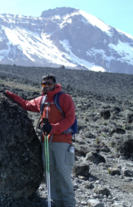 John Samuel  on Mount Kilimanjaro