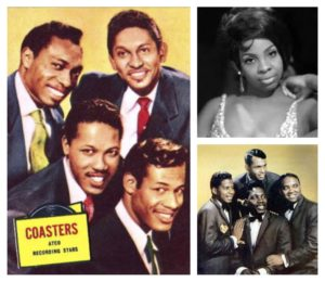 A collage of musicians including The Drifters, The Coasters and Gladys Knight!
