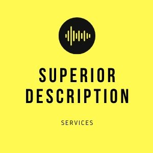 A square yellow logo reads Superior Description Services in black capitals under a black dot containing a sequence of vertical yellow lines.